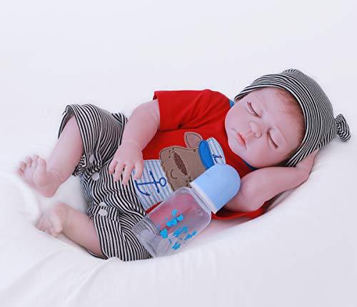 ZIYIUI Reborn-poppen Simulatie Siliconen Vinyl Babypop 20inch 50cm Levensecht Levendig Volledig Siliconen Anatomisch correcte pop Jongensspeelgoed Gesloten ogen