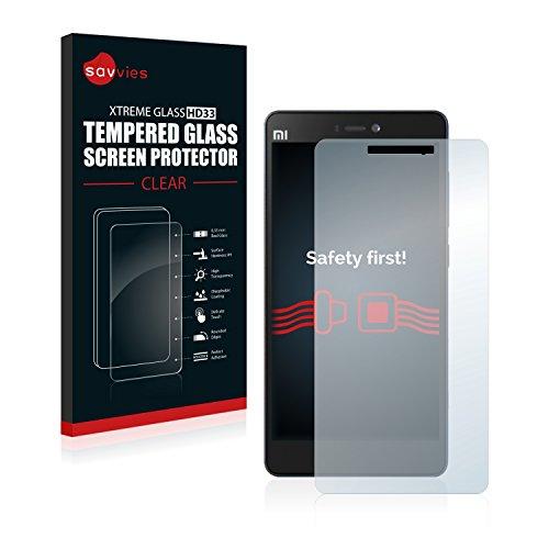 Savvies Panzerglas kompatibel mit Xiaomi Mi 4c - Echt-Glas, 9H Festigkeit, Anti-Fingerprint
