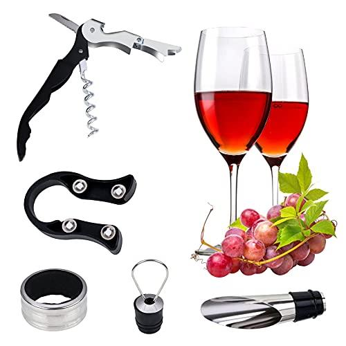 BERYCH Juego de sacacorchos de vino Hippocampus de 5 piezas, sacacorchos, sacacorchos con alambre en espiral de acero inoxidable de alta calidad.