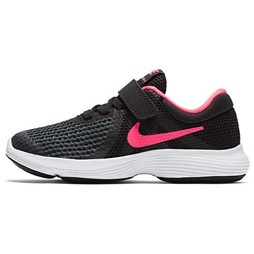 Nike Jungen Mädchen Revolution 4 (PSV) Laufschuhe, Schwarz (Black/Racer Pink/White 004), Numeric_33 EU