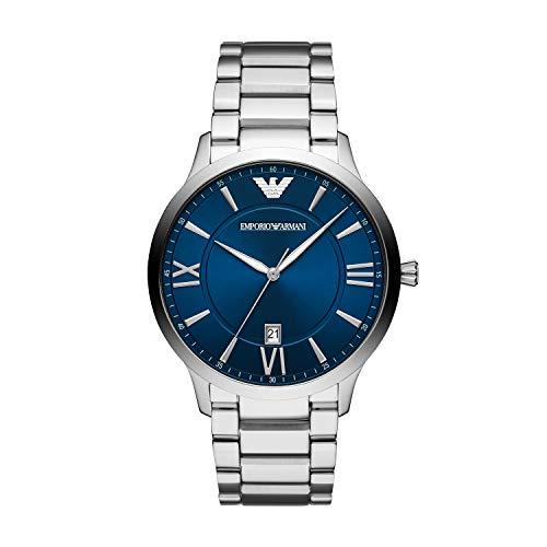 Emporio Armani Herren Analog Quarz Uhr mit Edelstahl Armband AR11227