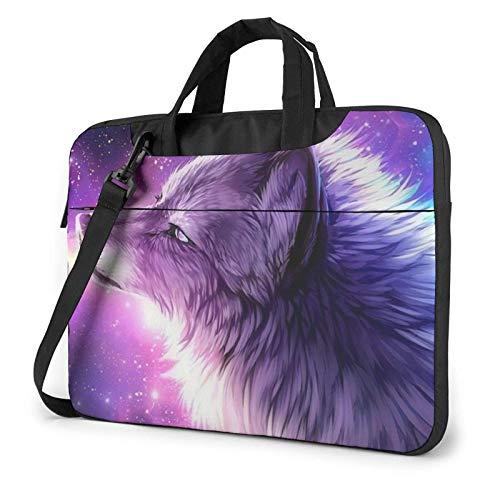 Wolf Galaxy Laptop Bag Messenger Bag Briefcase Satchel Shoulder Crossbody Sling Working Bag