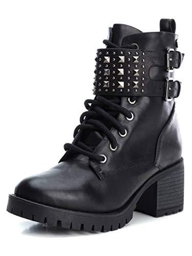 XTI Damen 49398 Stiefeletten Stiefel Schwarz 40 EU