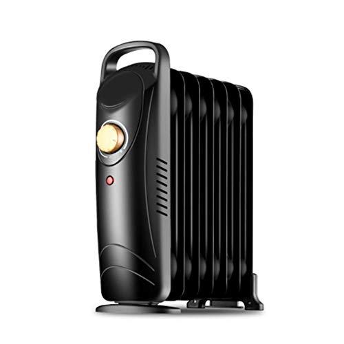 ZHIFENGLIU Calentador de Radiador Lleno de Aceite, Mini Radiador Portátil Eléctrico Pequeño con Termostato, 700 W con Termostato Ajustable