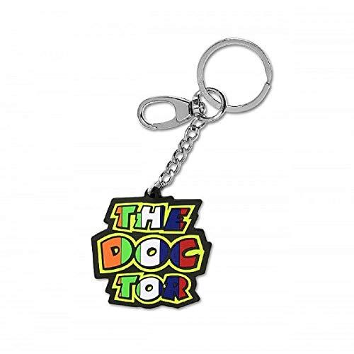 """Valentino Rossi Vr46 Classic-Accessories, Portachiavi """"The Doctor"""", Unisex Adulto, Multicolore, 6.5 x 6.5 cm"""