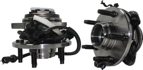 (Both) Front Wheel Hub and Bearing Assembly Replacement for Mazda B4000, Ford Ranger 4x4 5 Lug Pulse Vacuum Lock Hub W/ABS [Auto Locking Hubs]