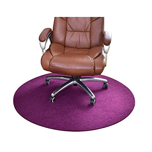 AGLZWY Round Carpet Rug Computer Chair Floor Mats for Office Wear-Resistant Door Mat Bedroom Entrance Lounge Dressing Table Children's Room, 5 Colors, Customizable (Color : Purple, Size : 70CM)