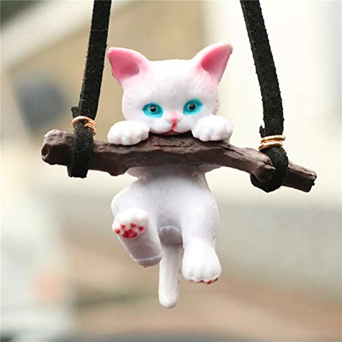 FDSIOXKF 1 Pcs Car Pendant Ornaments Car Ornaments Creative Cute Branch Cat Rearview Mirror Pendant Cute Decoration Car Interior Accessories Car Hanging Supplies
