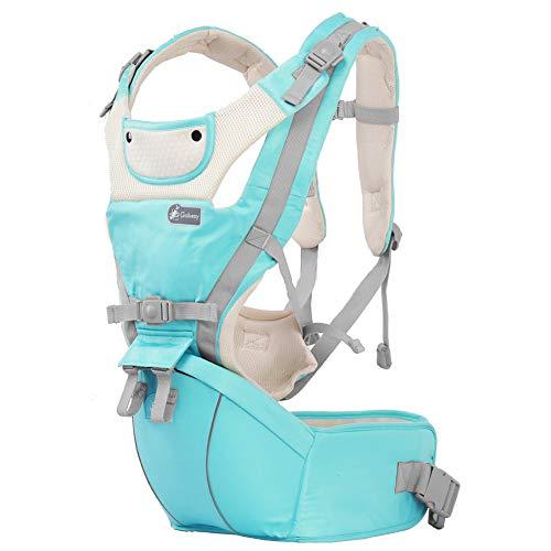 TUTOU Hip Sitz Babytrage Carrier, Rückenschmerzen Relief Softtrage Ergonomie Babysitz Für Easy Stillen Für Camping Auf Foot Shopping Reisen,Blau