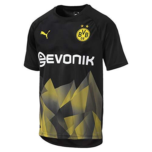 Puma Herren BVB Int'l Stadium Jersey with Evonik Trikot, Black-Cyber Yellow, L