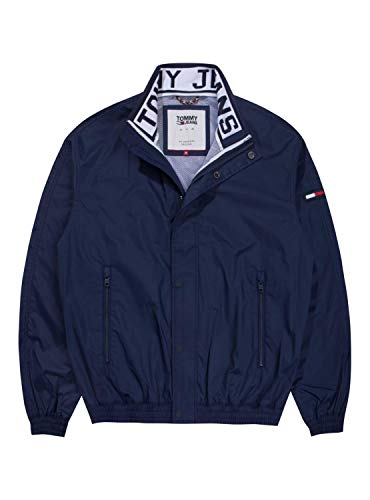 Tommy Jeans Herren MESH TRAINER JACKET Langarm Jacke Blau (Black Iris 002) Small (Herstellergröße: S)
