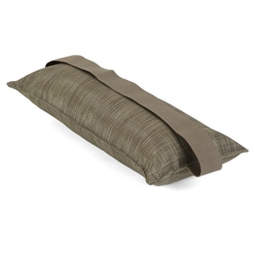 Ampel 24, Coussin pour Meubles de Jardin | Repose-tête pour Chaise-Longue | Oreiller de Voyage | Tissu résistant Vert Olive | 44x14cm