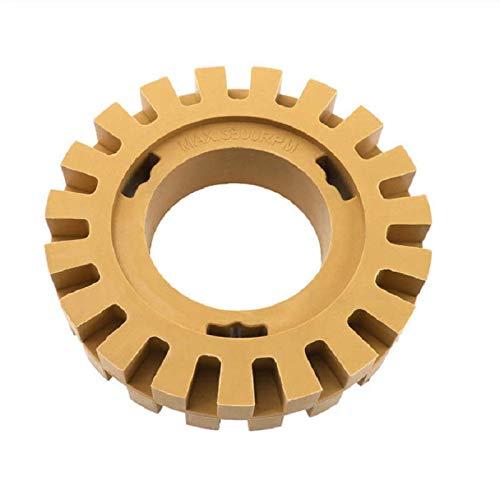 Yiwa polijstwiel-trekker, 1/4 in Shank Rubber Eraser Wheel gereedschap voor het snel aftrekken van polijsten voor autostickers, Toothed Hollow Rubber Grinding Wheel