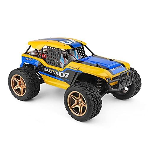 JIANGLL Coche teledirigido Todoterreno del Desierto 1/12 4WD Vehículo de Alta Velocidad con Motor de imán Fuerte de Cepillo de carbón de 45 km/h RC Camión RC de Choque de suspensión de 2.4Ghz RC Bug