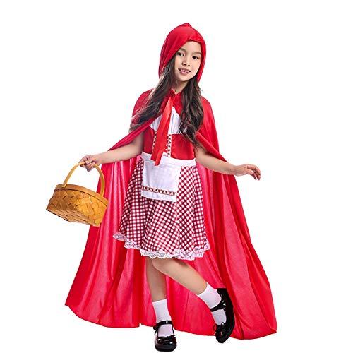 YTO Disfraz de Halloween clásico de Caperucita Roja para niña, Comienza una Aventura en el Bosque de Cuento de Hadas para niños
