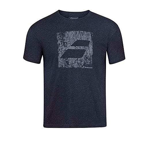 Babolat Exercise Big Flag Tee T-Shirt pour Homme L Noir chiné