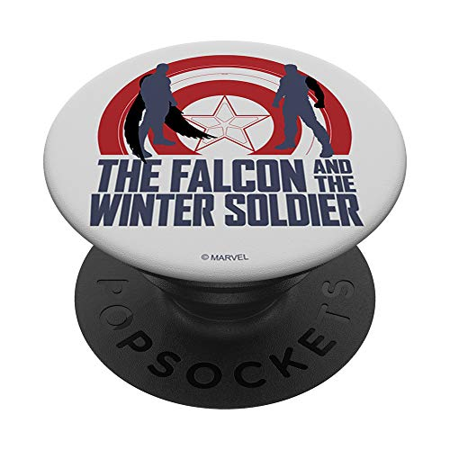 Marvel The Falcon And The Winter Soldier Duo Shield Logo PopSockets PopGrip: Swappable Grip for Phones & Tablets