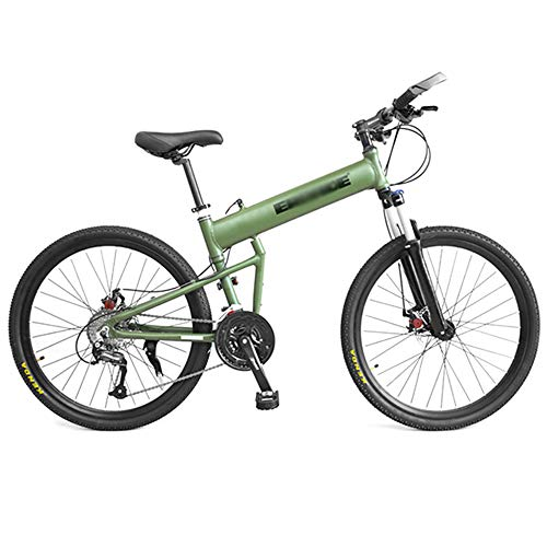 Bike Folding Mountain Off-road Bicycle 26 Inch 24 Speed Adult Men And Women Travel Damping Bicycle Aluminum Alloy Racing Car Commuter Bicycles Yellow Black Green