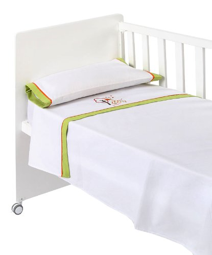 Naf-Naf 30063 Kinderbettwäsche 100% Baumwolle Design Jungle Pistacho 120 x 160 cm, 3-teile