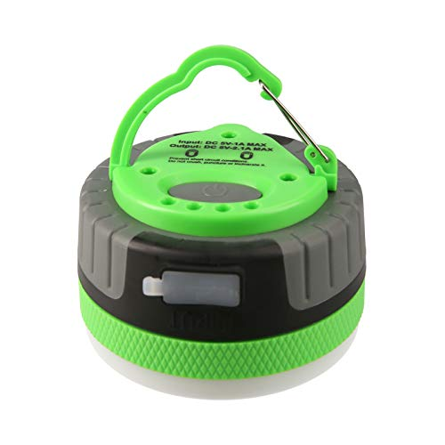 Linterna portátil LED para acampar al aire libre Linterna de mano IP65 Luz de emergencia impermeable SOS Luz de socorro Luz de mochilero Reflector con batería recargable de 2200 mAh Brillo ajustable