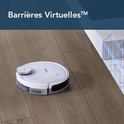 ECOVACS DEEBOT OZMO 900 – Aspirateur robot 2 en 1 pour sols durs et tapis – Aspirateur nettoyeur sans fil – Programmable via smartphone et compatible avec Amazon Alexa