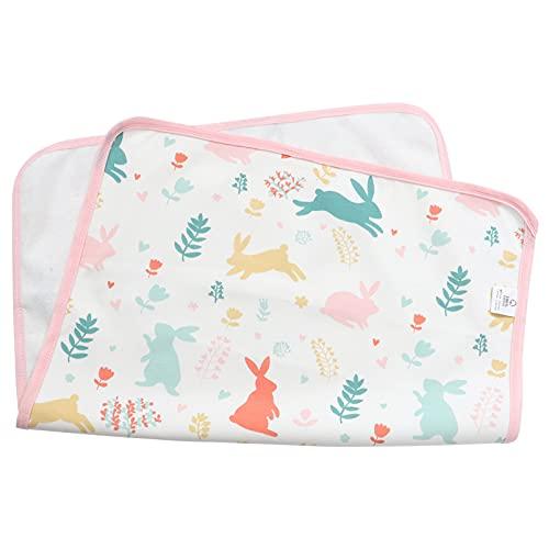 Toddmomy Alfombrilla Cambiadora de Pañales para Bebé Reutilizable Lavable Tapete Cambiador 50X70cm Protector de Colchón para Mamás Padres Baby Shower Registro Fiesta Conejo