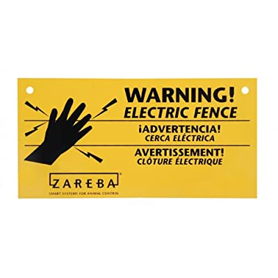 Zareba WS3 Electric Fence Warning Signs