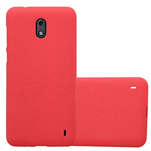 Cadorabo Custodia per Nokia 2 2017 in Frost Rosso - Morbida Cover Protettiva Sottile di Silicone TPU con Bordo Protezione - Ultra Slim Case Antiurto Gel Back Bumper Guscio