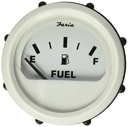 "Faria 13101 Dress Fuel Level Gauge (E-1/2-F) - 2"", White"