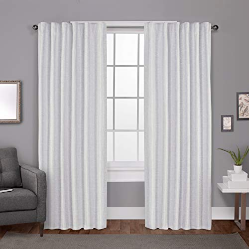 Magic Drapes Back Tab Polyester White 100% Blackout Curtains for Windows, Panels, Transverse Rod Bedroom Living Room Home Decor Drapes Smooth Thick and Heavy (42 x 63, White)