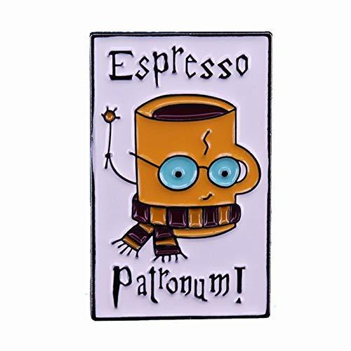 wangk Harry Kaffeetasse mit Gläsern und Schal Zauber Zauber Zauber Zauber KaffeeBecher Koffein Tee Brosche Abzeichen