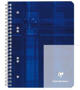 Collegeblock mikroperforiert mit Ringbuchlochung Clairefontaine, DIN A5+ 14,8x21cm, 80 Blatt, 90g, kariert 8572C