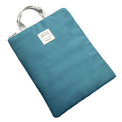 KARRESLY wasserdichte A4 Dokumententasche, Aufbewahrungstasche für Ordner, iPad Tasche für Männer und Frauen, Blau (Cyan), Einheitsgröße