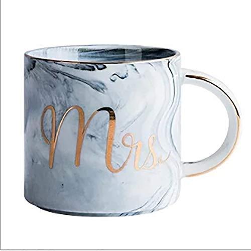 Ysswjzz Stone ware Mokken Koppen met decoratieve pretberichten Ideaal for warme dranken, Afternoon Tea, koffie, latte, warme chocolademelk en More-Miss Gray
