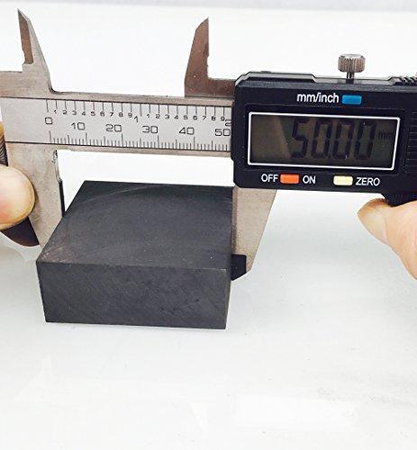 OTOOLWORLD 99.9% Purity Graphite Ingot Block EDM Graphite Plate Milling Surface (50MMx50MMx20MM)