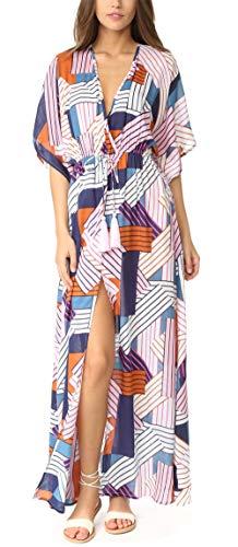 Belloxis - Kimonos de playa para mujer, vestido de malla de playa, color negro Multicolor multicolor S/XXL