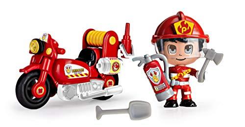 Pinypon Action- Moto de bombero con 1 figura, para niños y niñas a partir de 4...