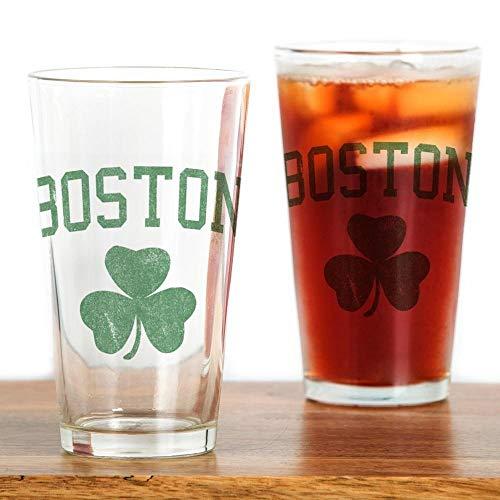 Boston Irish Pint Glass Pint Glass, 16 oz. Drinking Glass