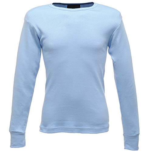 Regatta T-Shirt Thermique Homme Manches Longues Thermal Base Layer, Blue, FR : M (Taille Fabricant : M)