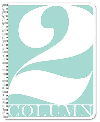 "BookFactory 2 Column Book/Columnar Logbook/Notebook (2 Columnar Book Format) - 100 Pages, 8.5"" x 11"", Wire-O (COL-100-7CW-PP-(Column-2))"