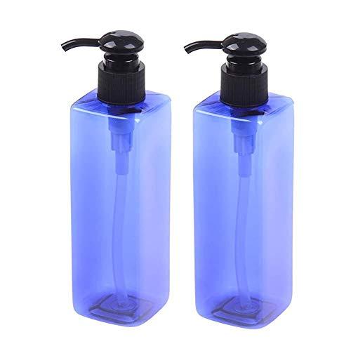 Bewegliche Verfassungs-Zubehör 2 Stück 250ml nachfüllbare Behälter mit Pumpspender Leere Flasche für Shampoo Duschgel CosmeticTools