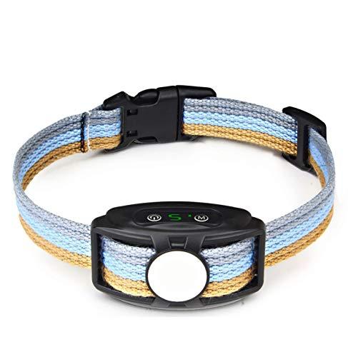 JJOBS Collar Antiladridos para Perros, Automático Collar Adiestramiento con Ajustable Vibración sin Descarga Eléctrica, 5 Niveles de Sensibilidad, Impermeable y Recargable