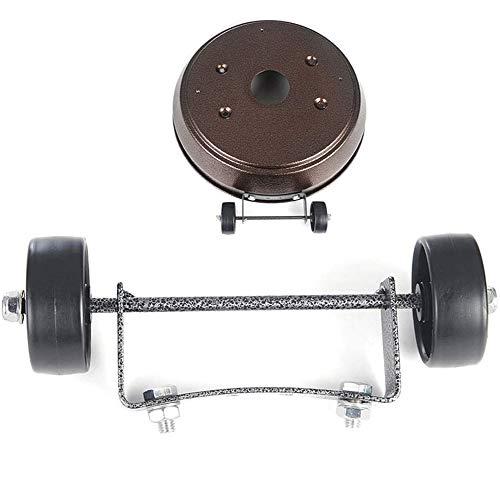 MBEN Gas-Patio-Heizgerät Ersatzteile Universal-Rad-Kit (einfach zu bewegen/installieren) Geeignet für Terrassenheizungsrolle für Gas, Flüssiggas, Erdgasheizung