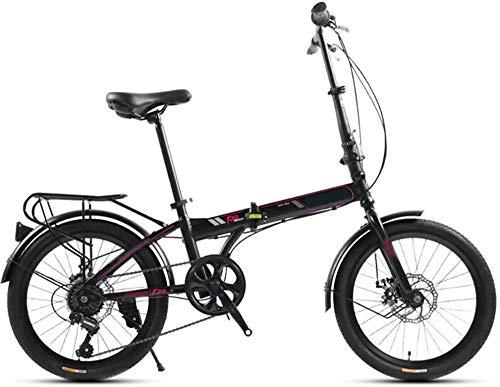 20 bicicletas plegables de acero de alta tracción, 7 velocidades, compactas, para estudiantes, trabajadores de oficina, entorno urbano y desplazamientos al trabajo.