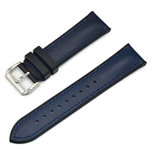 CASSIS[カシス」カーフ 時計ベルト 裏面防水素材 ROCHELAIS CALF ロシェールカーフ 22mm ネイビー 交換用工具付き U1127HW1061022