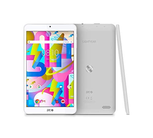 SPC Lightyear - Tablet android con pantalla IPS de 8 pulgadas, memoria interna 32GB, RAM 3GB, WiFi y Bluetooth – Color Blanca