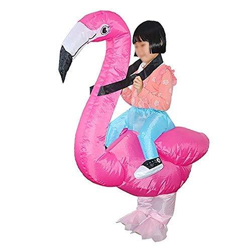 Volwassen kind opblaasbare Flamingo kostuums voor halloween maat voor kind