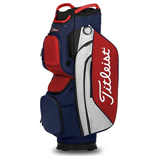 Titleist - Cart 15 Golf Bag - Navy/White/Red