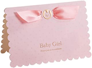 Baby Shower Invitations Girl with Envelopes 12 Pack Pink Writable Invite Cards