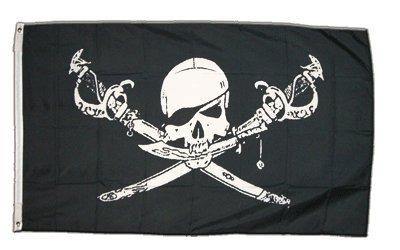 XXL vlag vlag piraat met sabels 150 x 250 cm